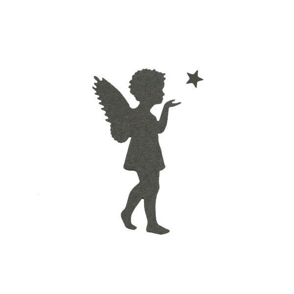 Die 'Engel mit Stern' Scherenschnitt engel Engel tattoo