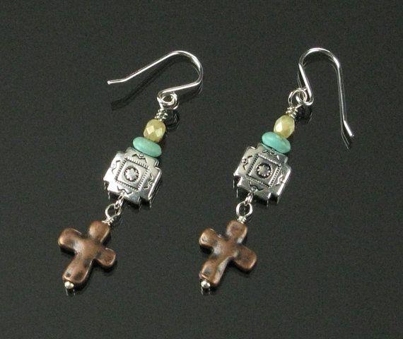 Boho Earrings  Boho Jewelry  Tribal Earrings  by mindfulmatters