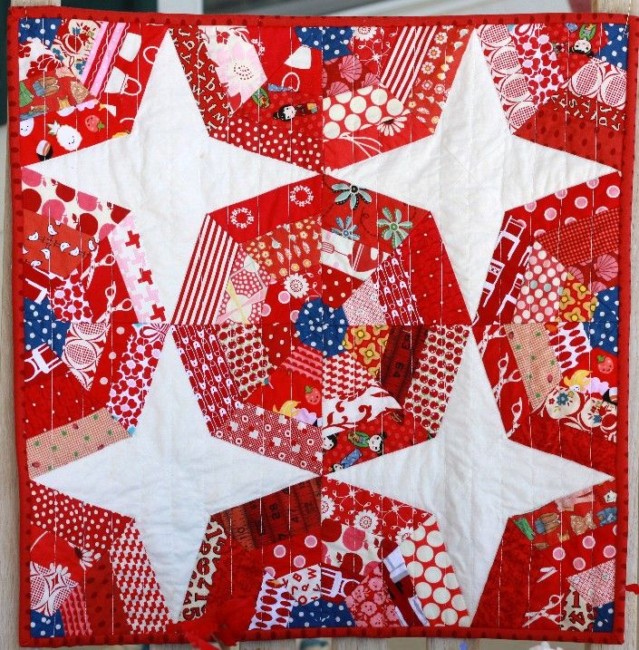Quilt Taffy: Red White and Blue
