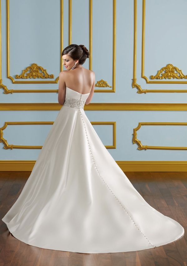 Bridal Dress From Blu By Mori Lee Style 4916 Duchess satin with ...