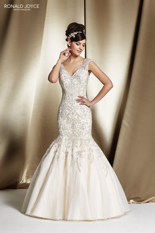 68051 \'RHODES\' Ronald Joyce #weddingdress #fishtail #tulle #satin ...