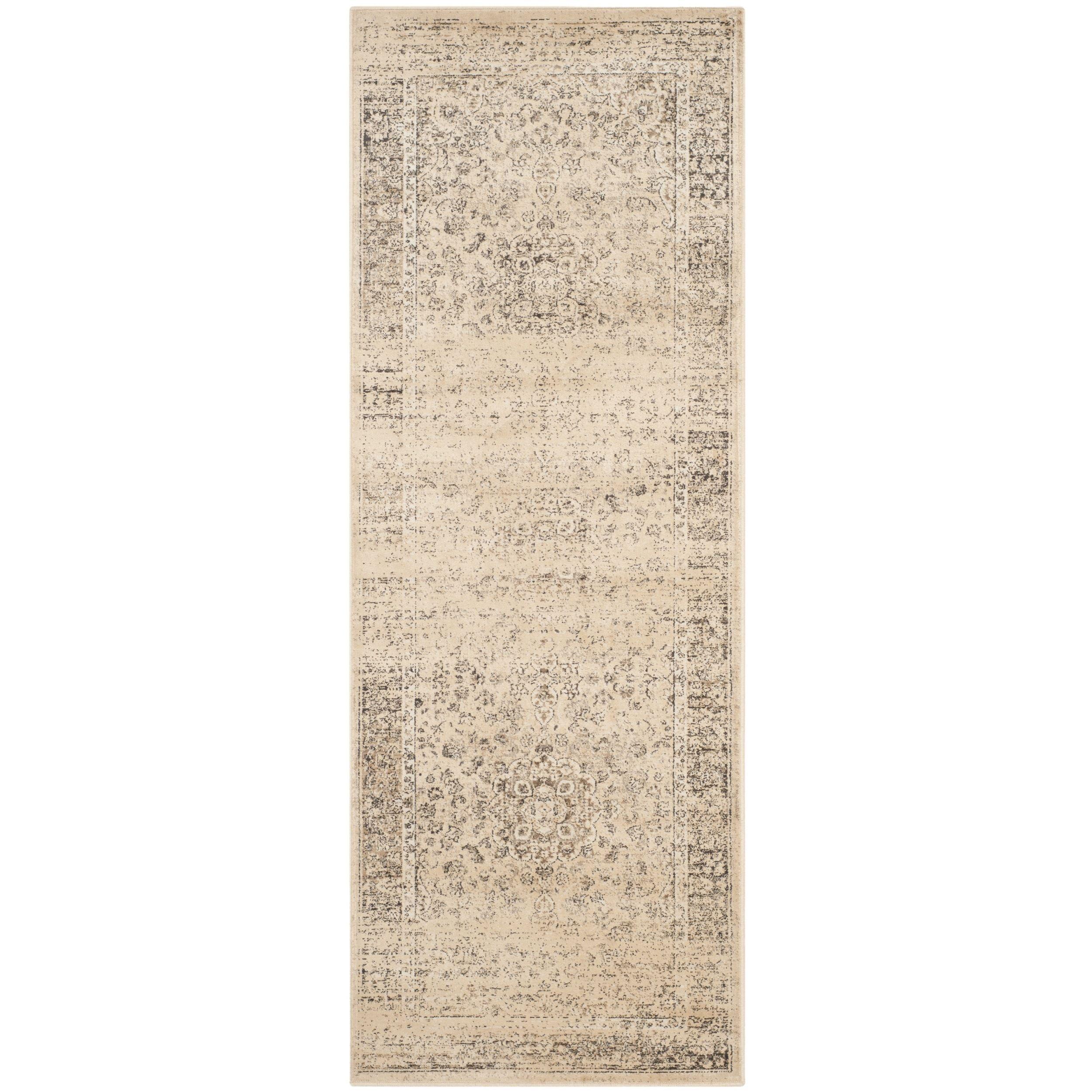 Safavieh Vintage Warm Beige Viscose Rug (2'2 x 7') (VTG113-660-27), Size 2' x 7'
