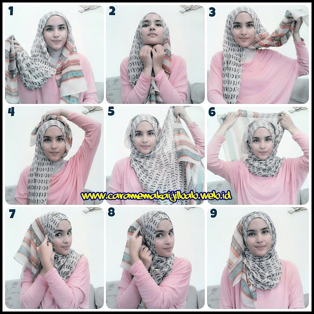 Party Hijab Tutorial With Full Front Back Coverage Farzana