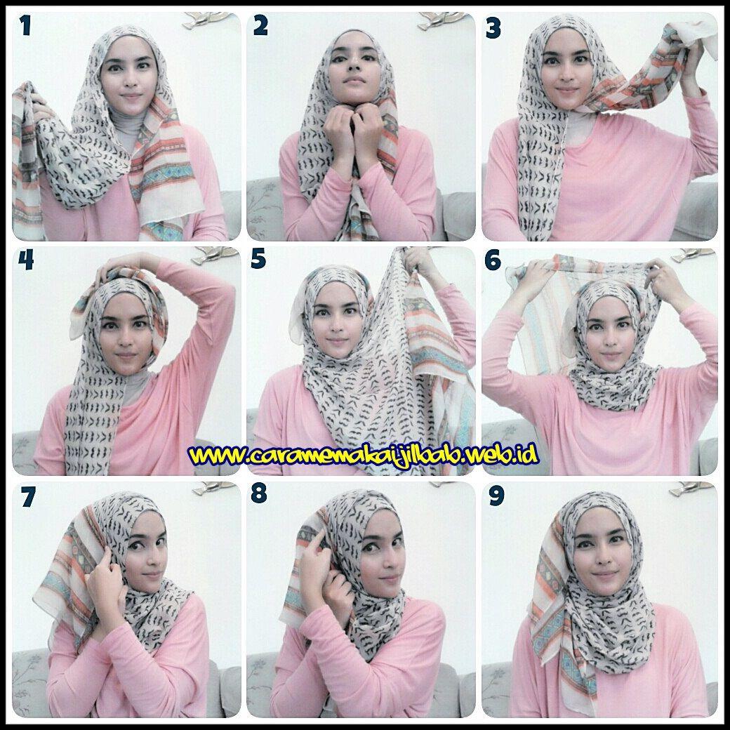 tutorial hijab segi empat untuk wajah bulat tutorial hijab | hijab
