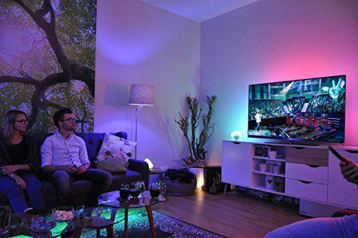 Wohnzimmer Lumen ~ Philips hue lightstrip 16 mio farben basis set ohne bridge eek a