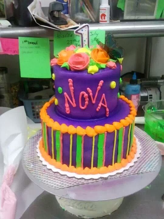 Neon Cake Liv A Little Cakes By Olivia Pinterest Neon Cakes