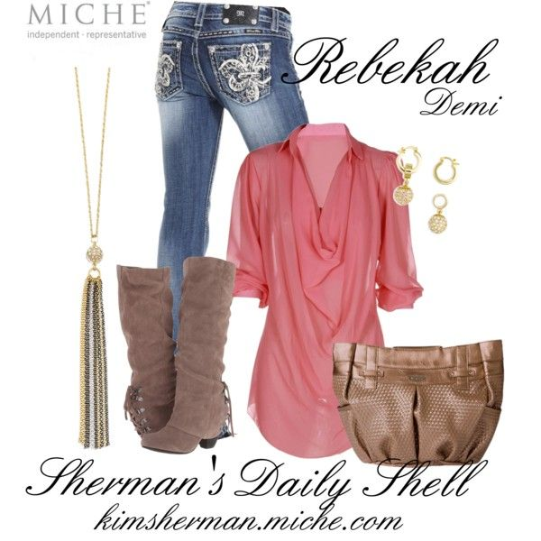 """""""MICHE Rebekah Demi"""" by kimsherman on Polyvore"""