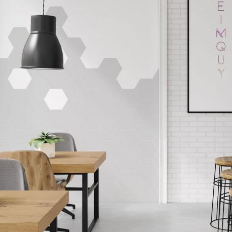 Carrelage Hexagonal Sol Et Mur Element Gris Clair Mat Aspect