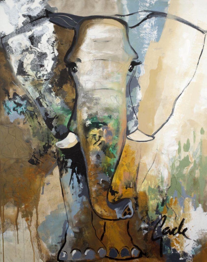 Bild Von Gade Bh 118x150 Cm Elefant Malen Kunst Ideen Idee Farbe