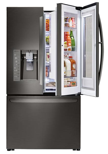 Instaview Door In Door Lg French Door Refrigerator Refrigerator Models Tempered Glass Shelves