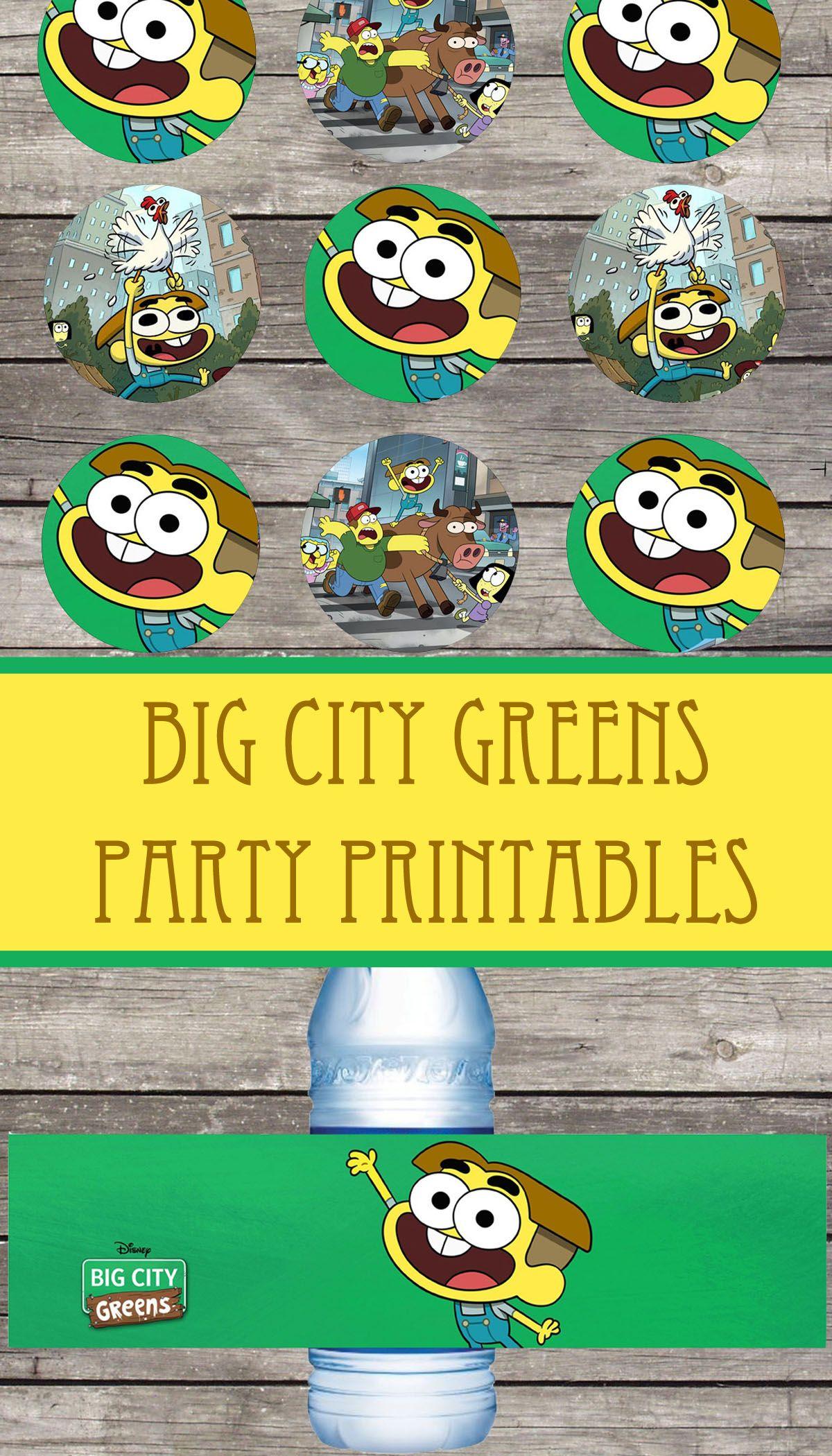 Big city greens birthday party printable files printable