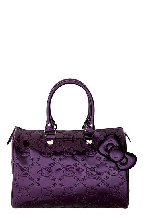 48d858216f Loungefly - Hello Kitty Purple Embossed City Bag  62.50