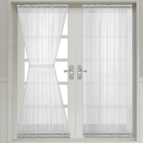 Abri Crushed Sheer Door Curtain Panel Single French Door Curtains Door Panel Curtains Panel Curtains