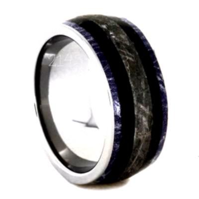 Photographs Mens Wedding Band With Meteorite And Dinosaur Bone Fossil Ring2143 Popular WEDDING RINGS  THE KNOT STYLE BUCKLE Wedding bands nowadays no more just have a sym...