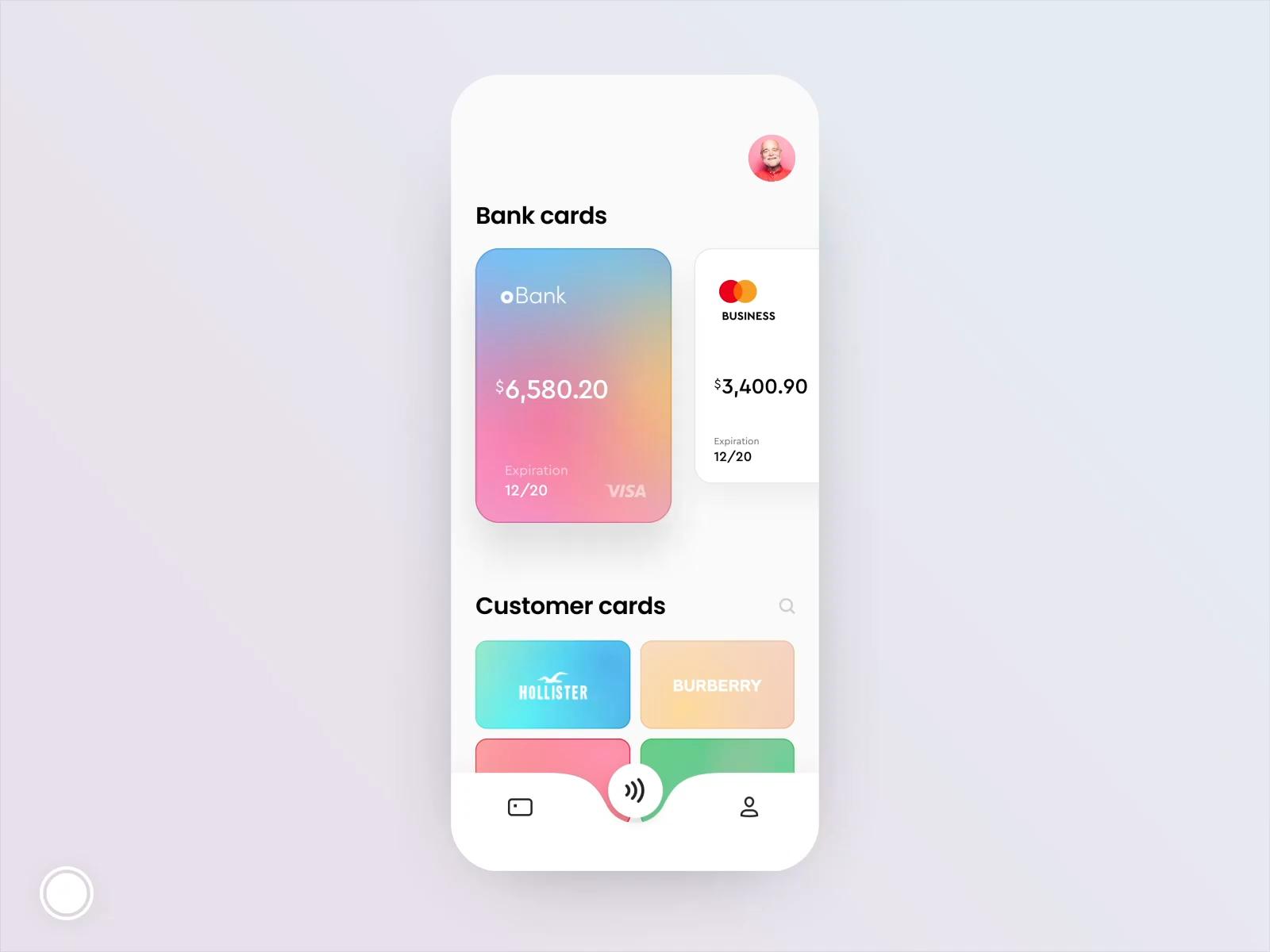 Customer cards animation