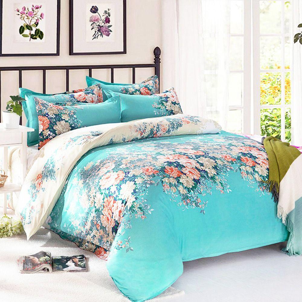 Cheap ropa de cama 4 unids lote nueva impresi n ropa de microfibra juego de cama duvet cover - Ropa de cama barcelona ...