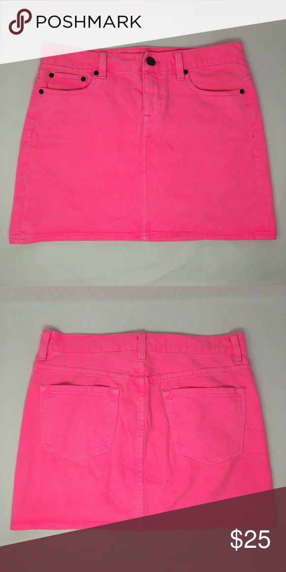a0fd6fa860d0 Women's J.Crew Neon Pink Denim Skirt Women's J.Crew Neon Pink Denim Skirt.  Size 30. Great used condition. NO TRADES! J. Crew Skirts