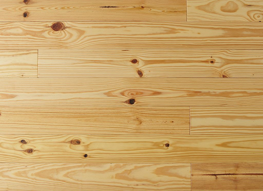 This Pine Wood Flooring Is Prefinished To A Natural Color And Has Been Wire  Brushed,