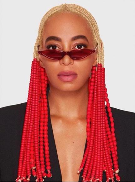 Solange Knowles Rocking New Blonde Braids