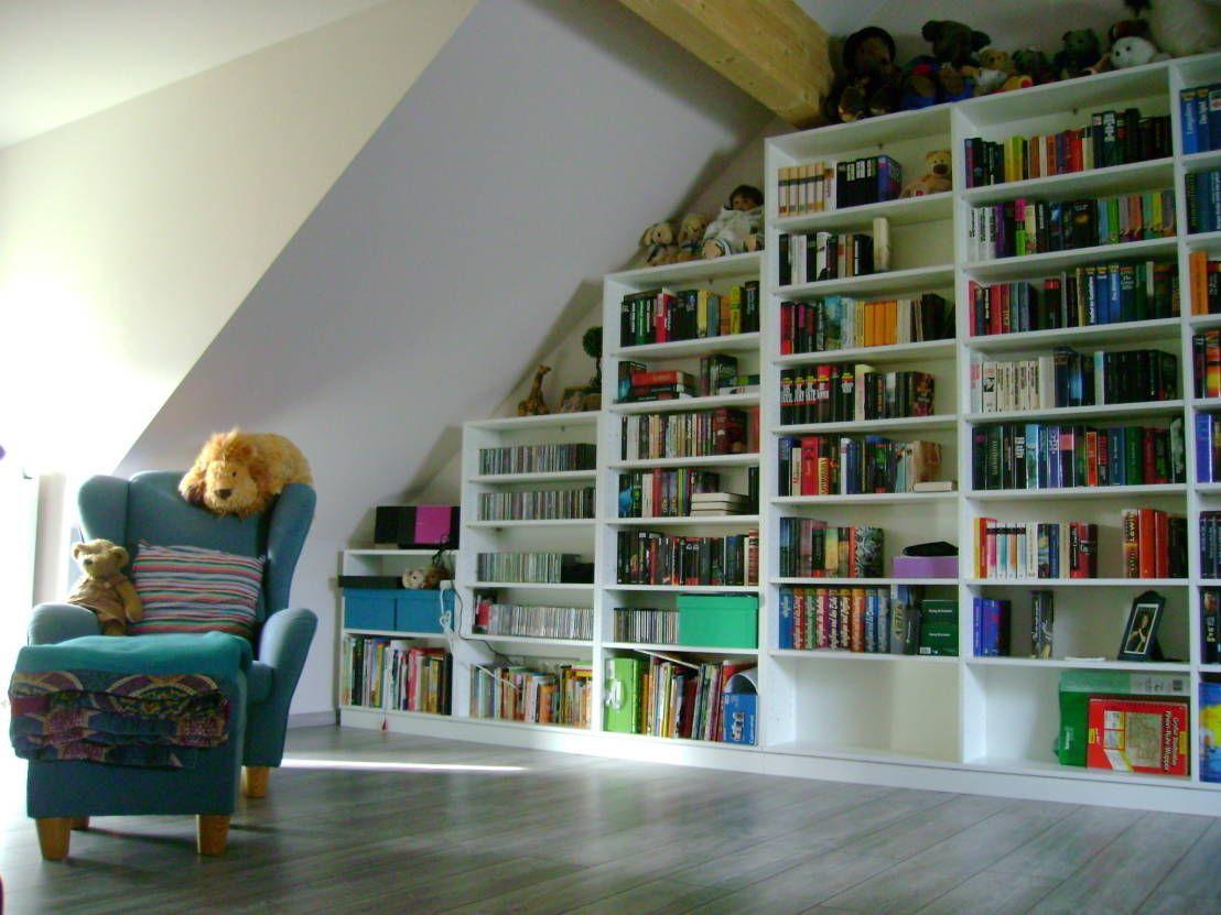 Wie aus einem Dachboden eine Bibliothek wird | Dachboden, Bibliothek ...