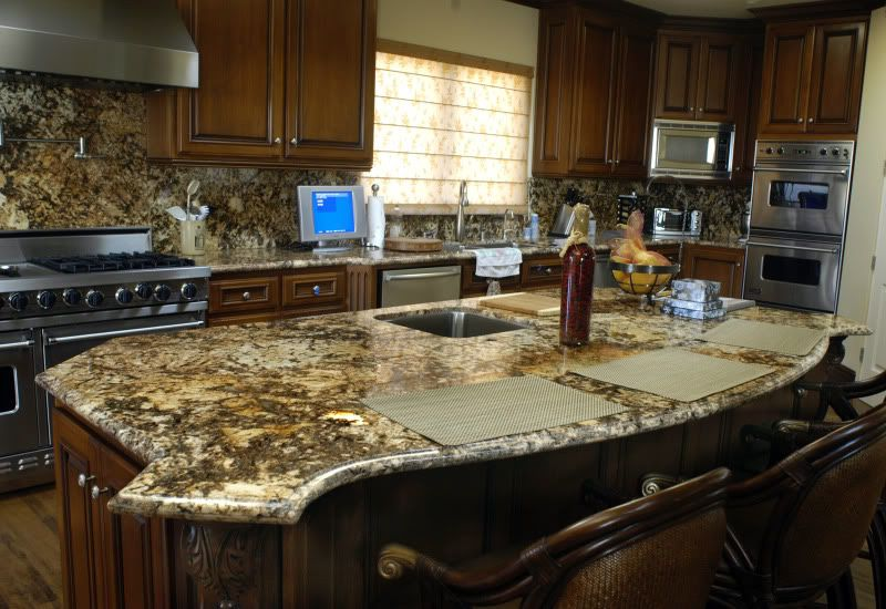Golden Persa Granite Installed Design Photos And Reviews Granix Inc
