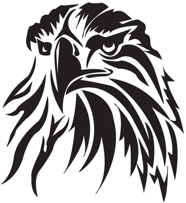 Tribal Hawk Head Tattoo | أبيض وأسود | Tribal tattoos, Eagle