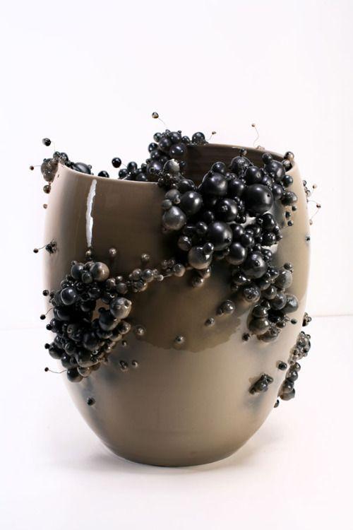 "Francesco Ardini with series of vases: ""Proliferazioni"""