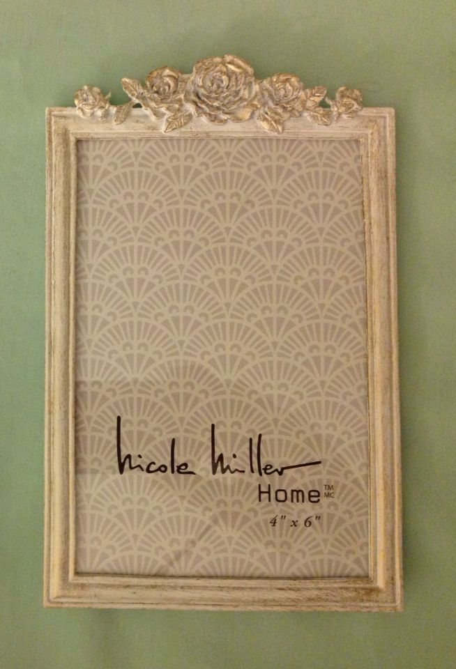 nicole miller 4x6 picture frame