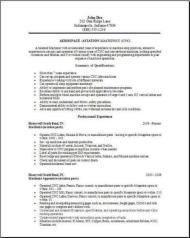 Aerospace Aviation Resume  Places To Visit    Aviation