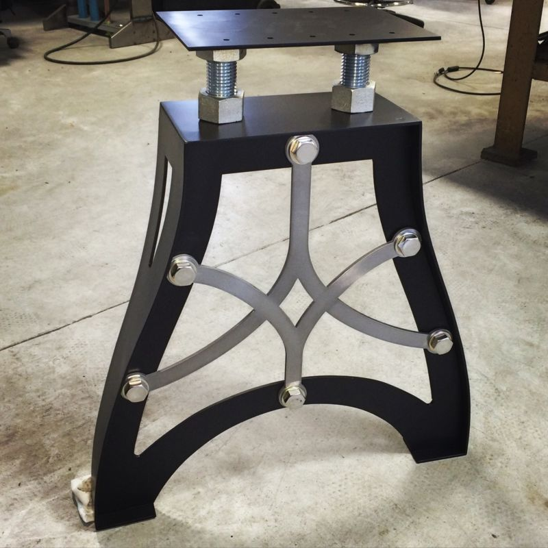 Details About Vintage Metal Table Legs Steam Punk