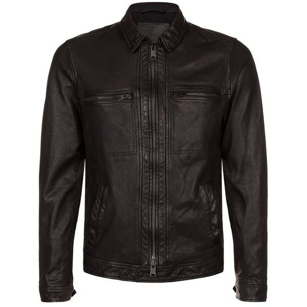 AllSaints Lark Leather Biker Jacket ( 395) ❤ liked on Polyvore featuring  men s fashion c88160538