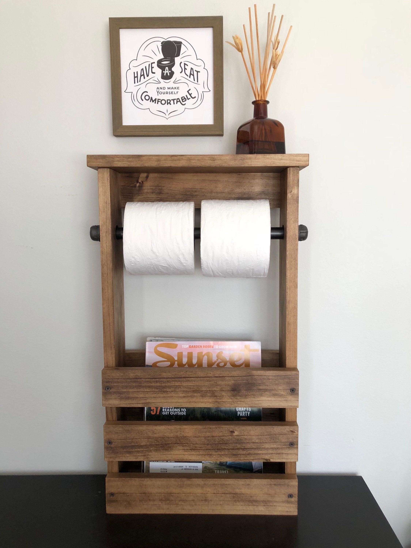 Toilet Paper Holder Free Standing Bathroom Magazine Rack Etsy Free Standing Toilet Paper Holder Bathroom Toilet Paper Holders Toilet Paper Holder