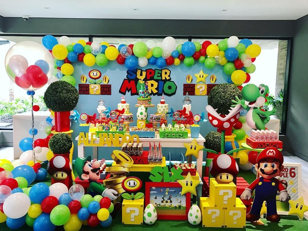 Mario Bros Montaje Listo Festamariobros Mariobrosparty Fiesta De Mario Bros Cumpleaños De Mario Bros Decoracion De Mario Bros