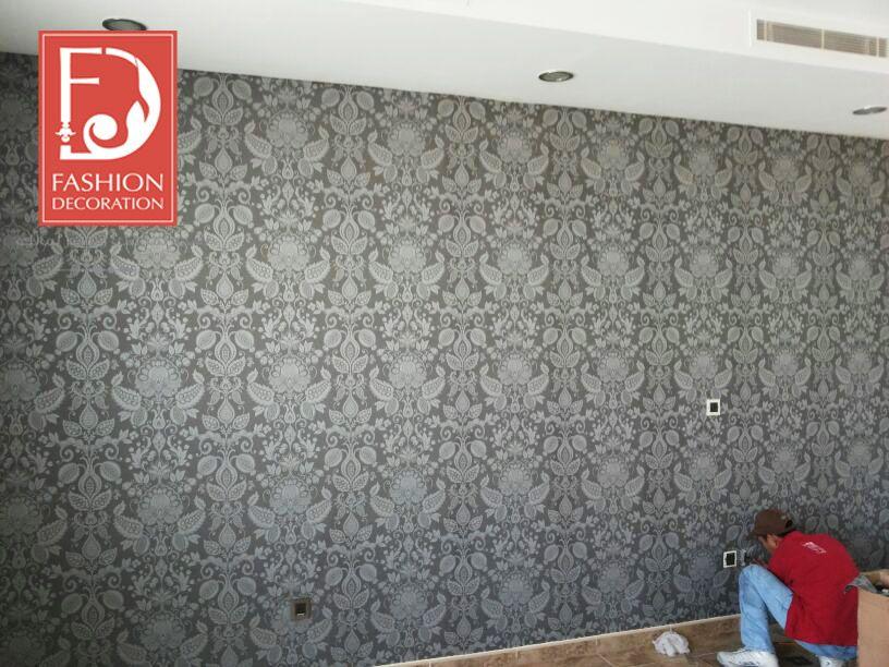تركيب بكل احترافية و دقة ورق جدران اوروبي 100 Decor Wallpaper ورق جدران ورق حائط ديكور فخامة جمال منازل Decor Decor Styles Decor