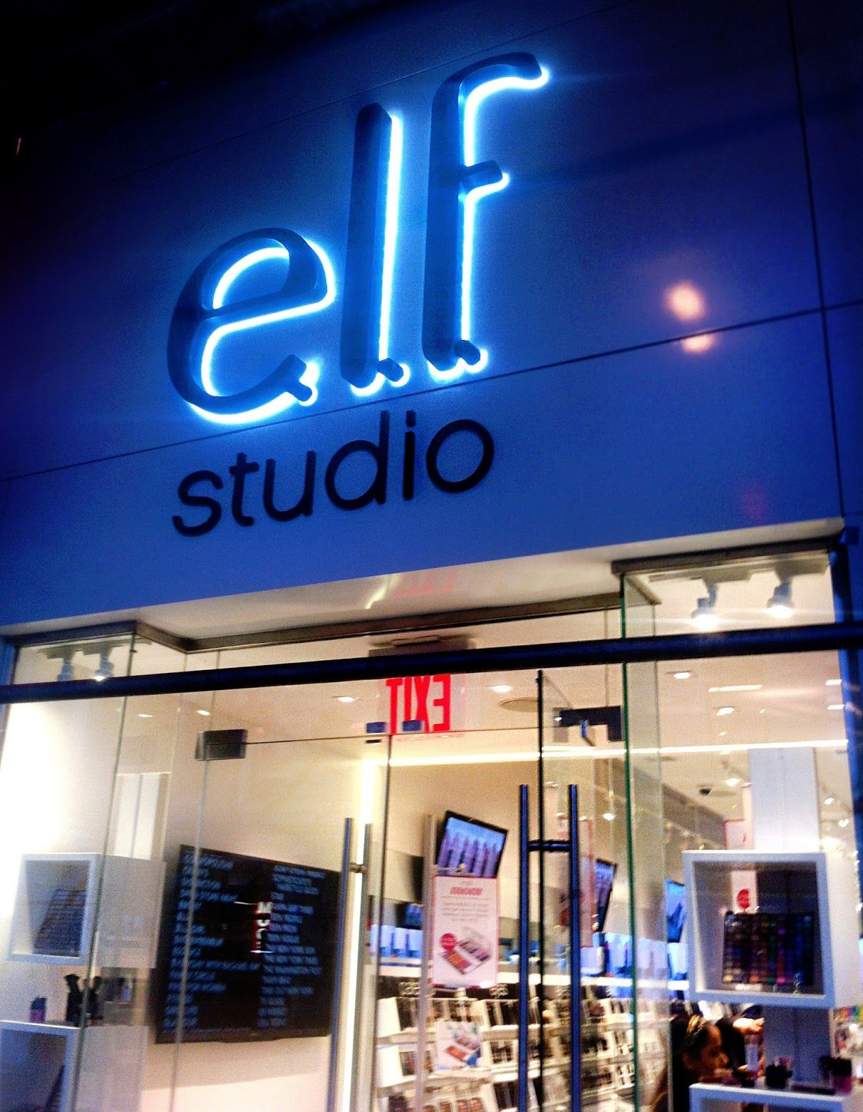 Pretty Squared ELF Cosmetics Store New York ELF