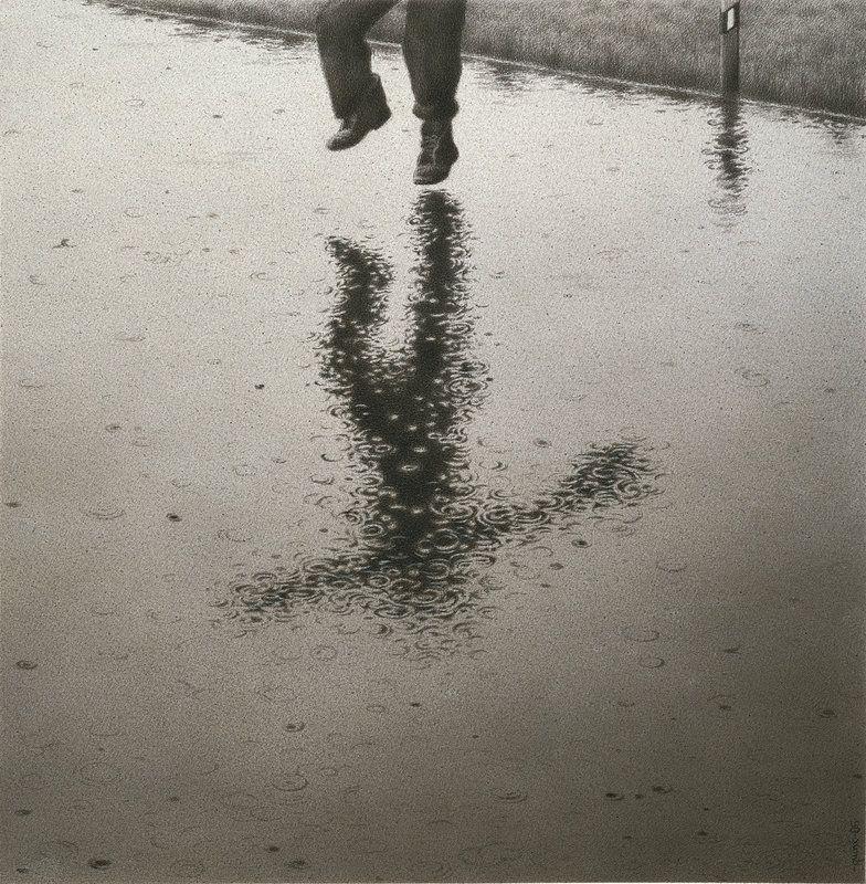 Rain by Quint Buchholz, 1965: Pencil drawing. #Illustration #Quint_Buchholz #Rain
