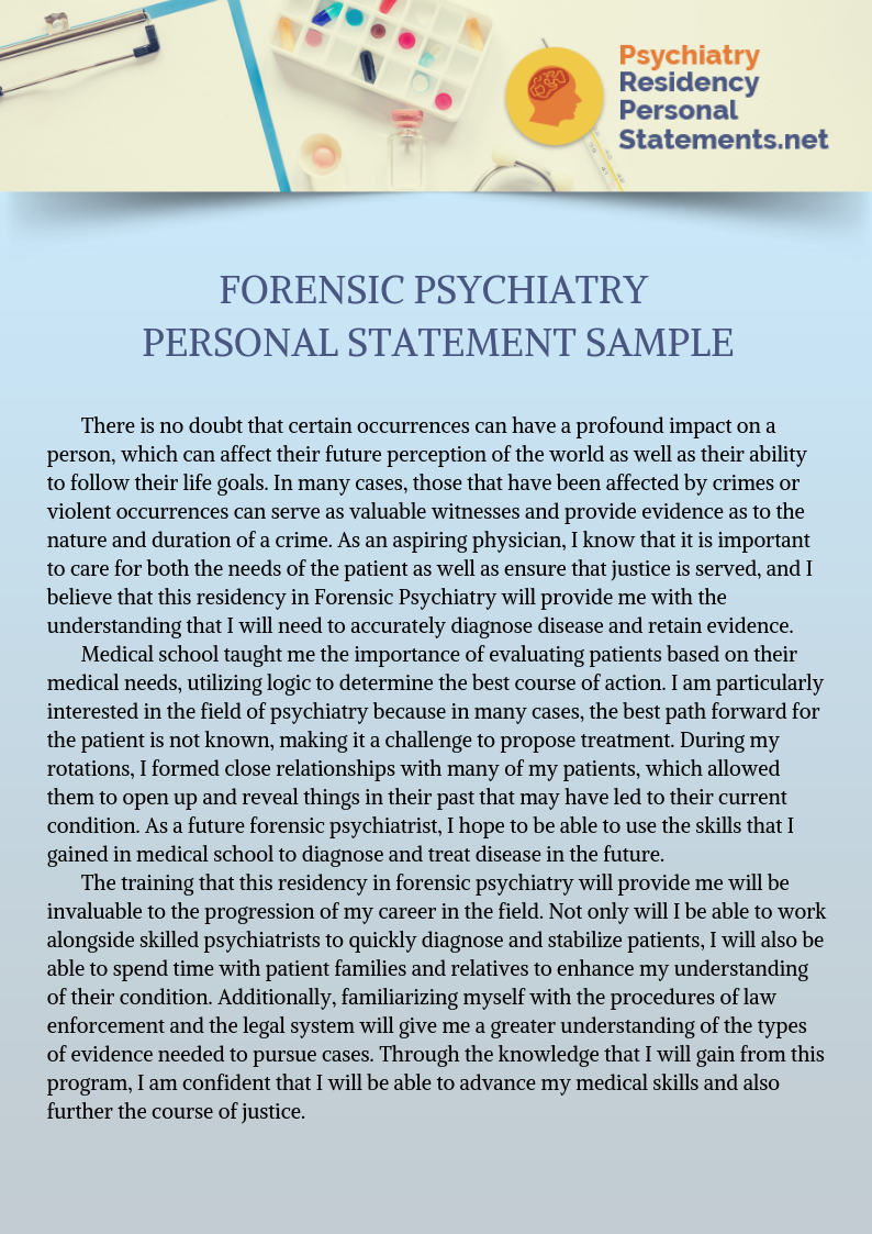 Pin By Residency Personal Statement W On Succes Psychiatry Forensics