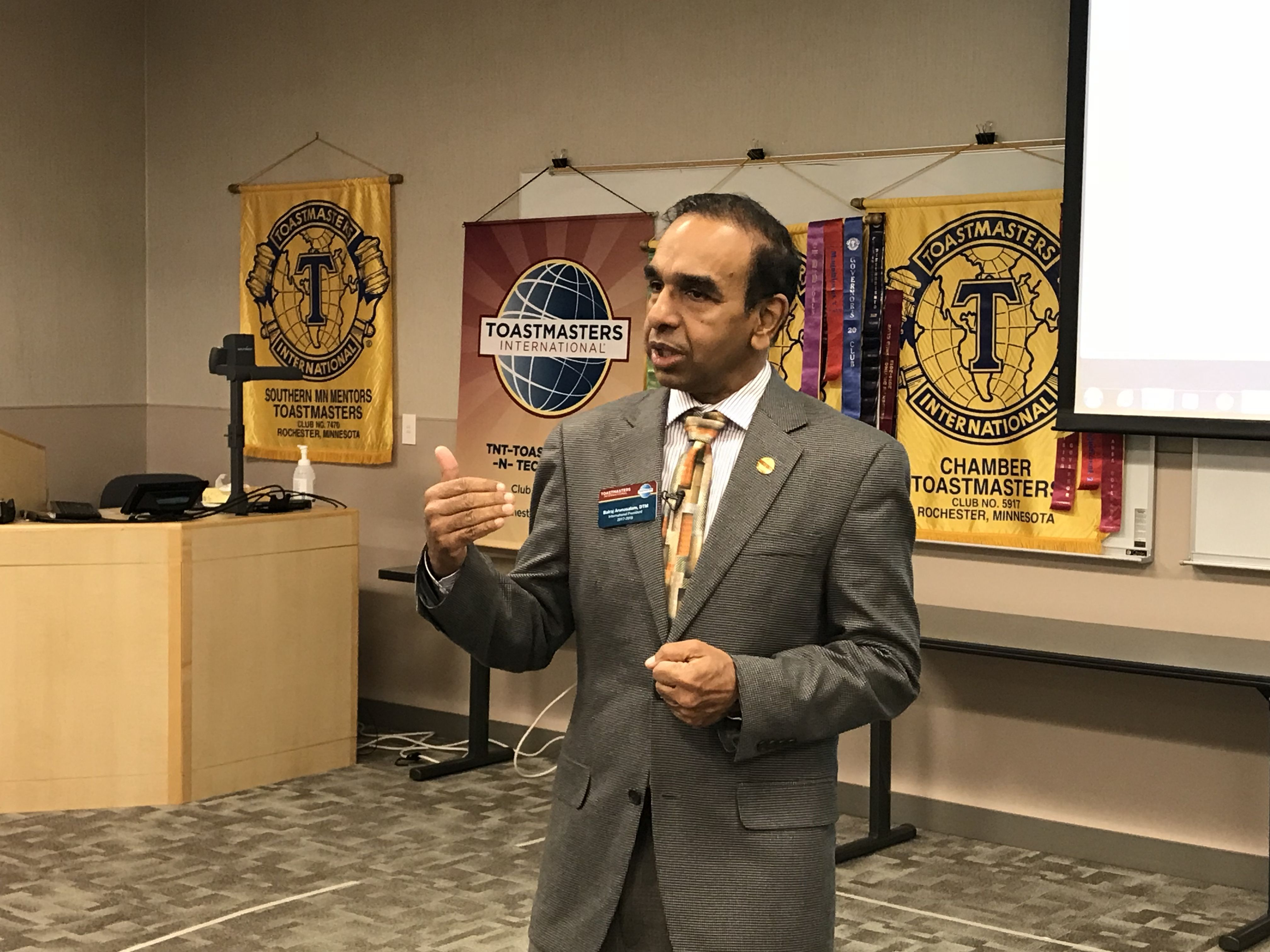 b3b143cf2 #Toastmasters Intl President says we can change lives everyday with our  leadership program #dtm6 #rochmn #meetup #rochestercvb #rochester_mn