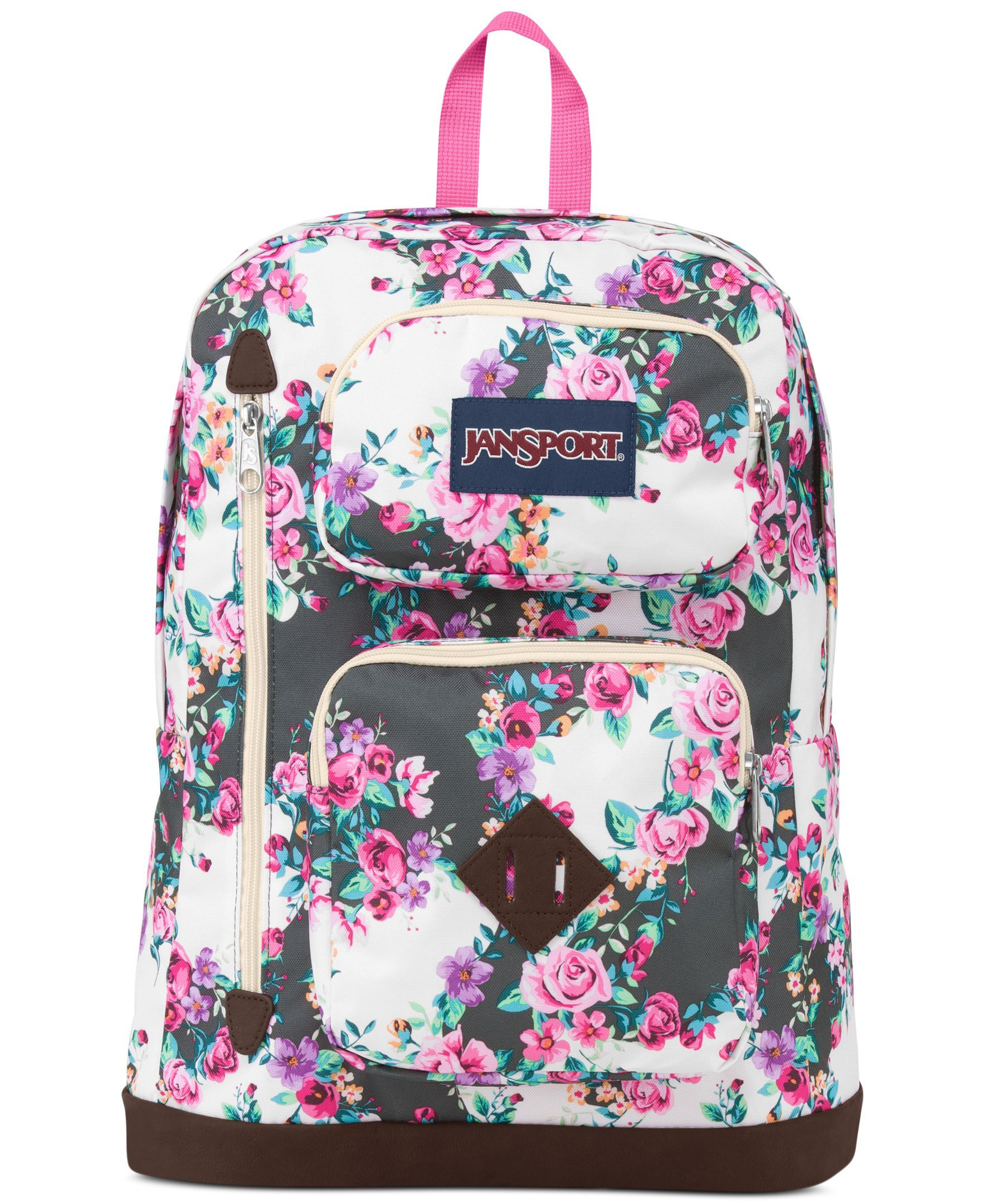 Jansport Austin Backpack Multi Grey Floral Flourish Floral