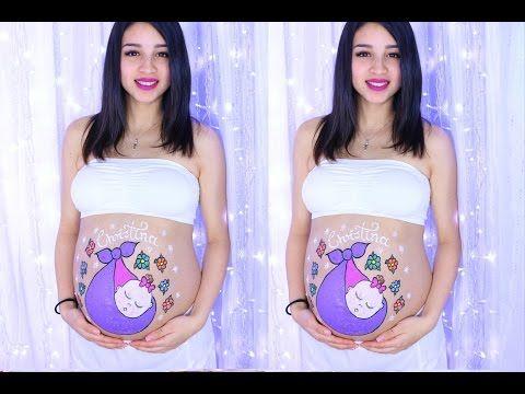 Pin En Pintura En El Vientre De Una Embarazada