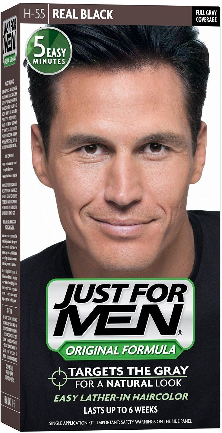 JUST FOR MEN Hair Color H55 Real Black 1 Each (Pack of 7