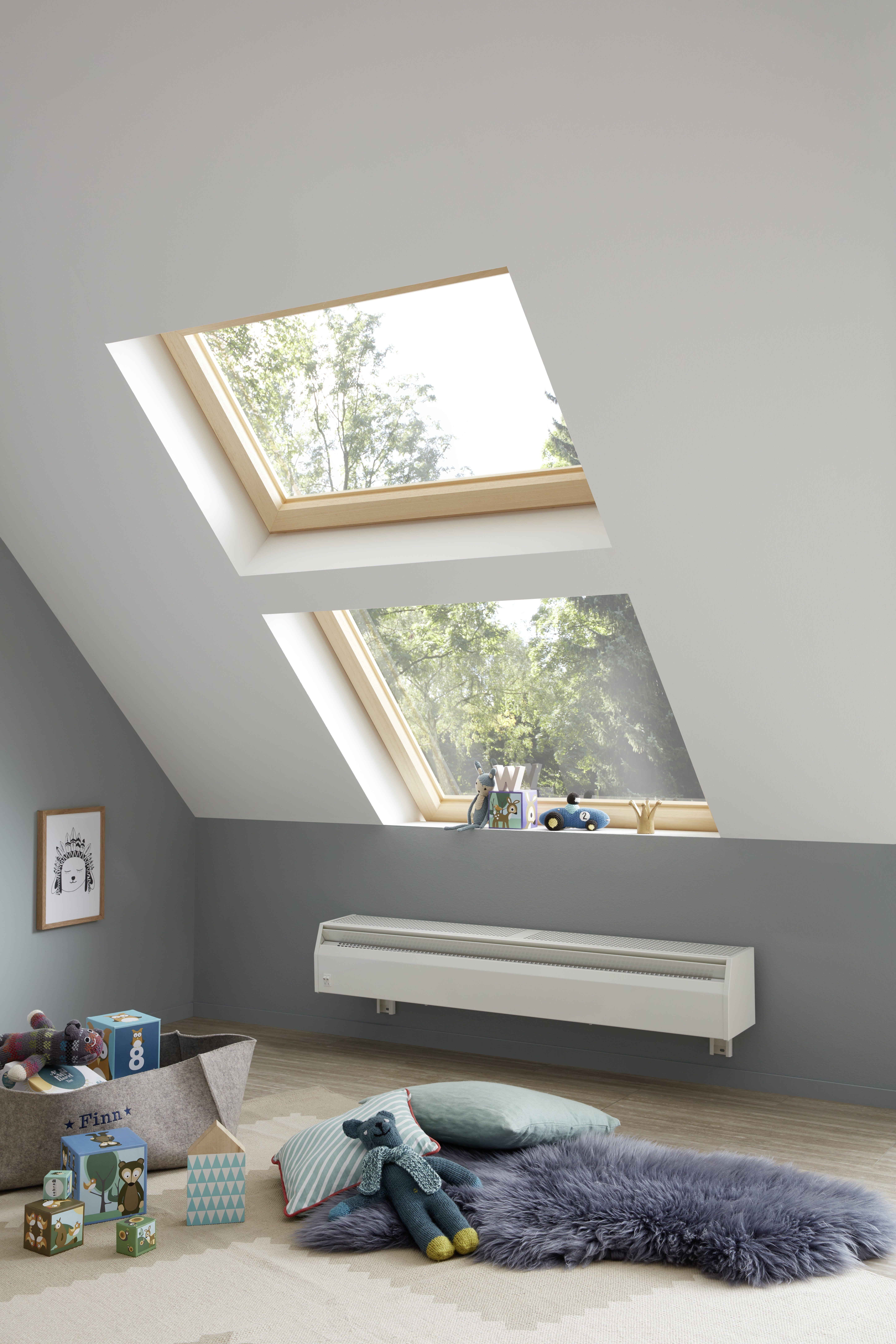 Ideal Fur Den Dachbodenausbau Badezimmer Dachschrage Dachschrage Fenster Kinder Zimmer