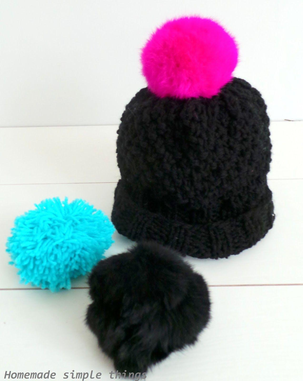 vente en magasin 2019 meilleurs la qualité d'abord Voici un modèle que j'adore : un bonnet avec des pompons ...
