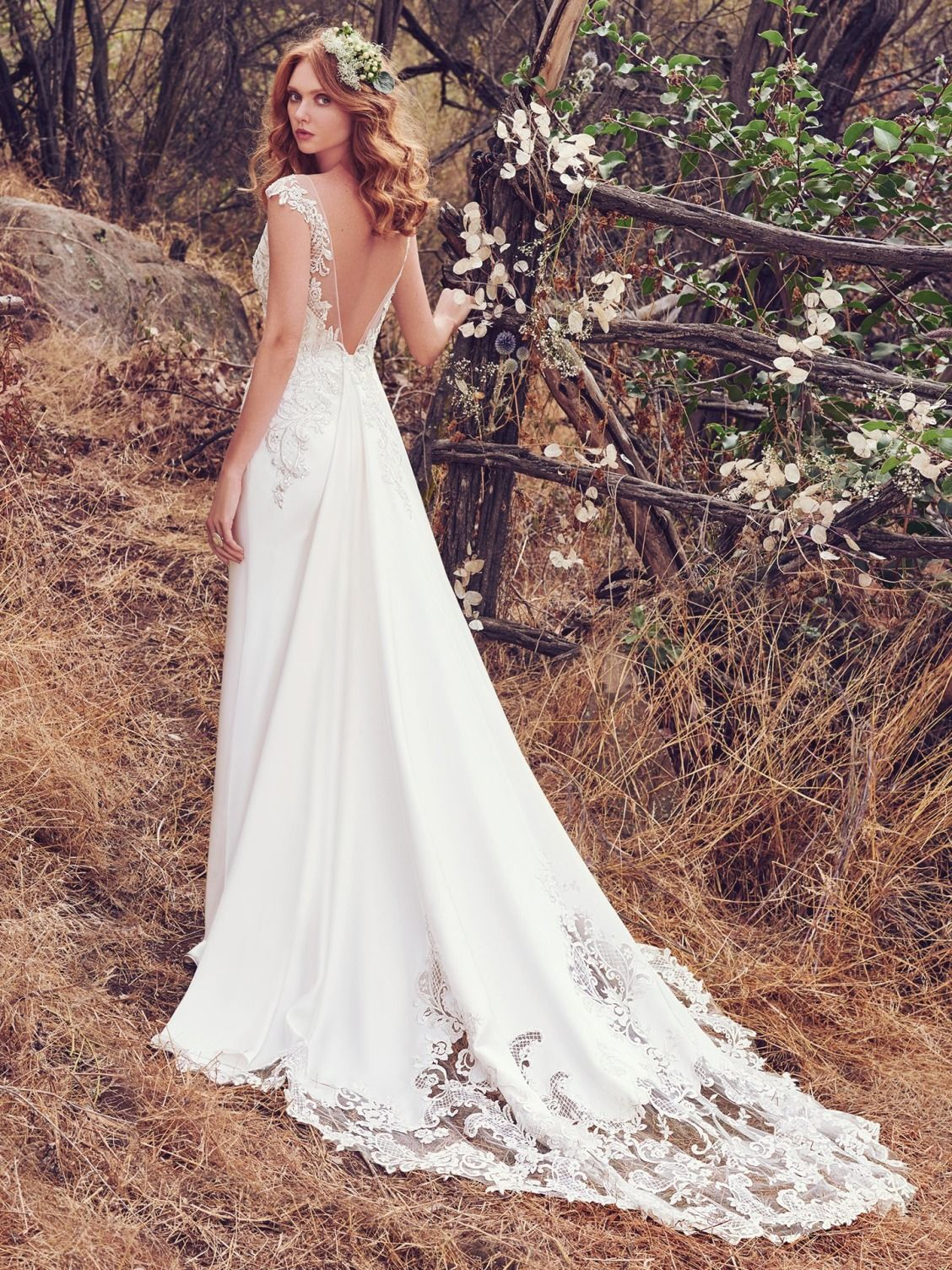 Maggie sottero wedding dresses romantic swarovski crystals and maggie sottero estelle this romantic orlando satin wedding dress features lace appliqus accented in ombrellifo Choice Image