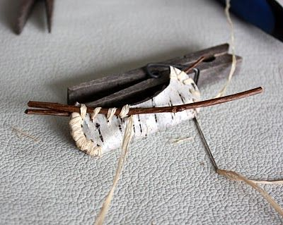 Birch Bark canoe Christmas ornament?