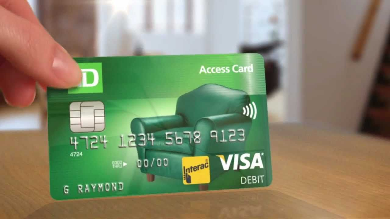 A debit card with benefits td access card td bank