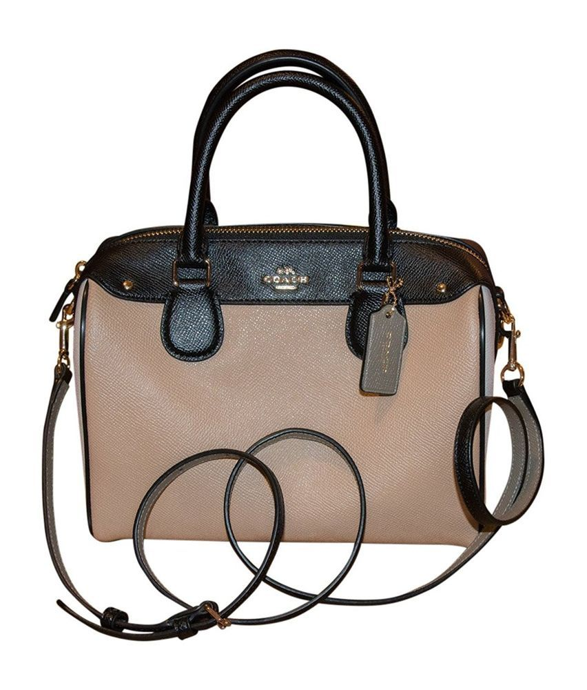216c398ee2 Coach Colorblock Leather Mini Bennett Satchel Shoulder Bag Crossbody Cream  Beige  Coach  Satchel