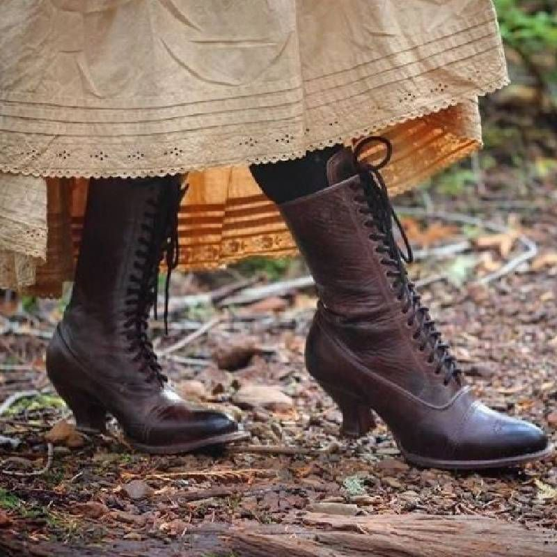 Shop SHOES - Irisruby Shoes Low Heel Round Toe Vintage Brown Shoes online. Disco... 3