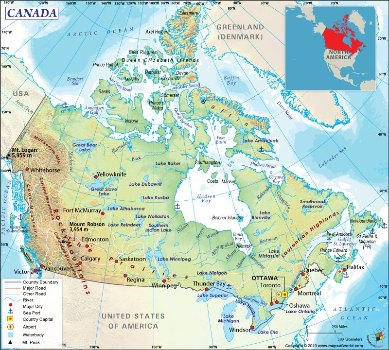 What Are The Key Facts Of Canada Canada Map Canada In World Map Germany Map