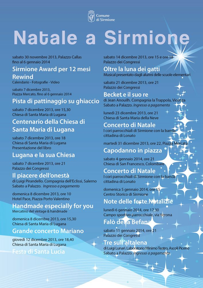 Sirmione: ecco gli appuntamenti per il #Natale 2013 @GardaConcierge